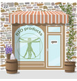 bio products shop organic products store vector image