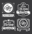 chalkboard calligraphy banners and labels vector image