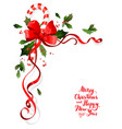 christmas floral decoration vector image