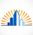 city modern building logo vector image