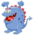 Cute blue monster cartoon vector image