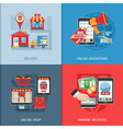Flat Design Online Shopping Concept vector image