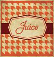 Juice Label Design vector image