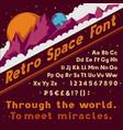 retro space font vintage cosmic alphabet vector image