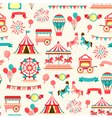 Seamless pattern - vintage carnival vector image