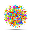 colorful circle birthday confetti background vector image