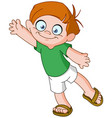 Boy waving vector image