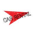 car rental rubber stamp vector image vector image