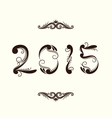 2015 year ornamental vector image