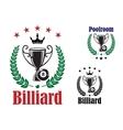 Billiard trophy cup vector image vector image