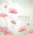 Vintage background with flowers vector