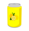 Lemon drink vector image