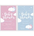 Baby shower set Cute invitation cards for baby vector image