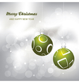christmas card background green and silver vector image