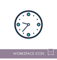 clock outline icon workspace sign vector image