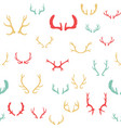 colorful seamless pattern with deer antlers vector image