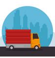 construction vehicle dumper truck vector image