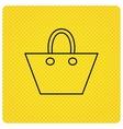 Ladies handbag icon Elegance women accessory vector image