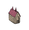 Medieval Church Drawing vector image