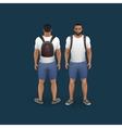 men wearing shorts and t-shirt vector image