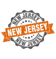 new jersey round ribbon seal vector image