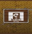 restaurant menu old brick wall wood sheet vector image