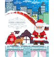 Santa Claus with Christmas gifts vector image