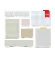 Set of old vintage notepaper sheets vector image