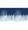 Winter Christmas landscape with tree vector image