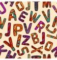 Zentangle Alphabet Seamless Pattern vector image