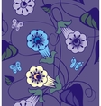 Bindweed flowers a seamless pattern vector image
