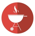 bbq grill party american football shadow vector image