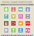 holidays simply icons vector image