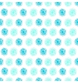 Summer seamless background with flower polka dots vector image