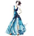 Blue dress fashion vector image vector image