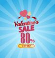 valentines day sale 80 Percent typographic vector image vector image