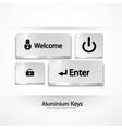 aluminium buttons  keys vector image vector image