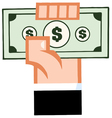 hand with cash vector image