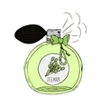 Hand Drawn of a perfume bottle with vector image