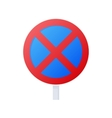 Clearway sign icon cartoon style vector image