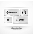 aluminium buttons keys vector image