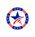 american circle stars emblem graphic design vector image