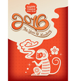 Chinese new year of the Monkey 2016 vector image