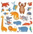 cute zoo animals vector image