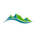 Green mountains logo vector image
