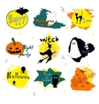 Happy Halloween day silhouette collections design vector image