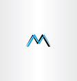letter m cyan black logo icon vector image