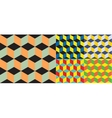 Seamless geometric colorful background vector image