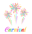 Sketch abstract colorful exploding firework for vector image