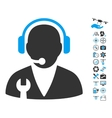 Support Manager Icon With Copter Tools Bonus vector image